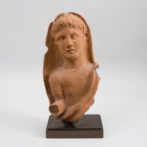 Etruscan Terracotta Bust of a Youth