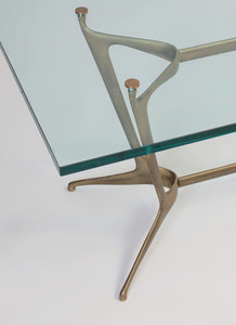 Bronze and Glass Low Table