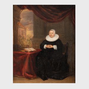Flemish School: Woman at her Desk