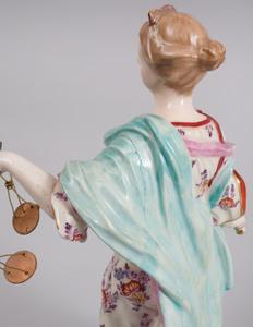 Derby Porcelain Figure Emblematic of Justice
