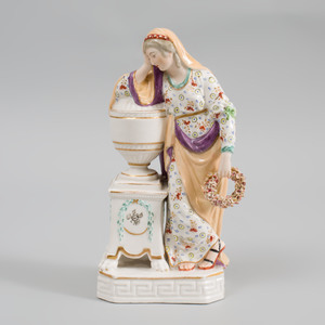 Derby Porcelain Figure (William Duesbury & Co.) Figure of  Andromache Mourning the Ashes of Hector