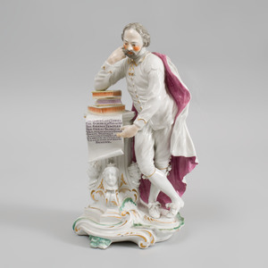 Derby Porcelain Figure of Shakespeare
