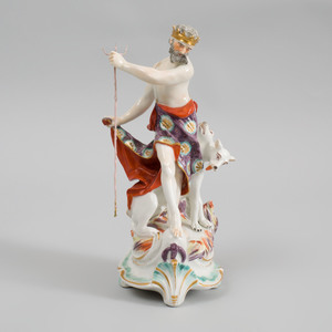 Derby Porcelain Figure Group of Pluto and Cerberus
