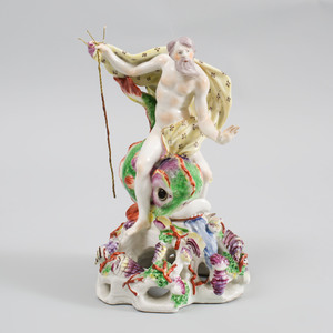 Bow Porcelain Figure of Neptune Emblematic of the Sea