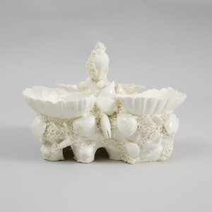 Bow Porcelain White Triple Sweetmeat