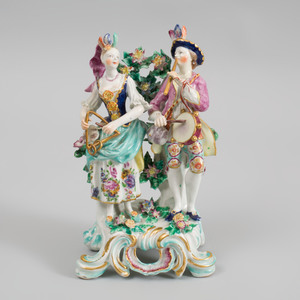 Bow Porcelain Figure Group of Young Musicians