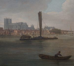 School of Samuel Scott (1702-1772): A View on the River Thames