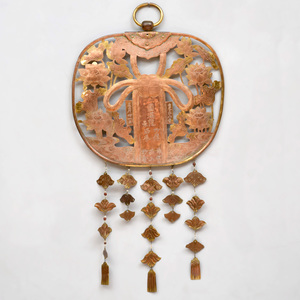 Japanese Engraved Copper Wall Hanging