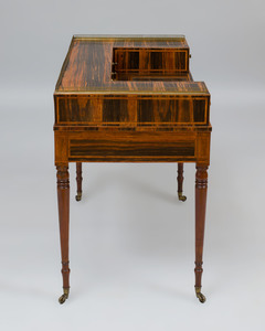 Regency Inlaid Calamander Carlton House Desk