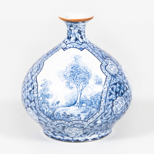 Royal Bonn Transfer Printed Porcelain Vase in the 'Flamand' Pattern