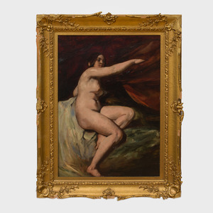 Attributed to William Etty (1787-1849): Female Nude, Seated