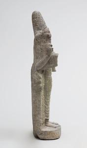 Indian Grey Granite Figure of Lakshmi