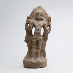 Indian Grey Granite Figure of Bhairava