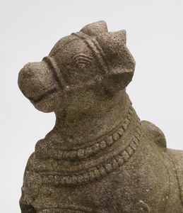 South India Grey Granite Figure of Nandi