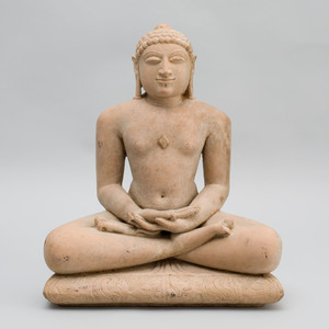 Indian Carved Sandstone Figure of Jina