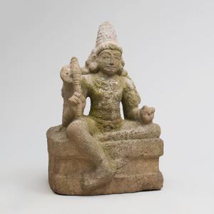 Indian Grey Granite Figure of Chandikeshwara