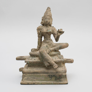 South India Bronze Figure of Bhudevi, Tamil Nadu