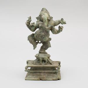 South India Bronze Figure of a Dancing Ganesha, Tamil Nadu