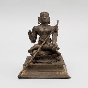 Indian Bronze Figure of Saint Appar