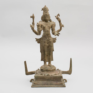 South India Bronze Figure of Shiva, Tamil Nadu