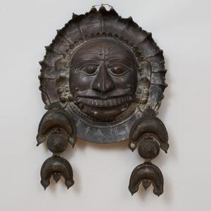 Indian Bronze Figure of a Bhuta Mask