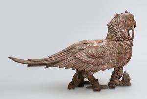 South India Painted Hardwood Figure of Hamsa