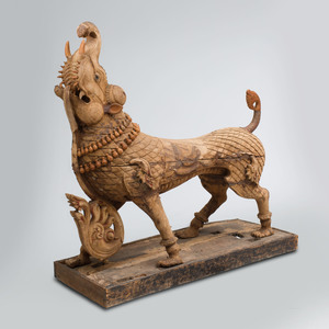 Indian Carved Hardwood Model of a Mythological Animal
