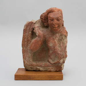 Indian Terracotta Fragmentary Panel, Gupta Style