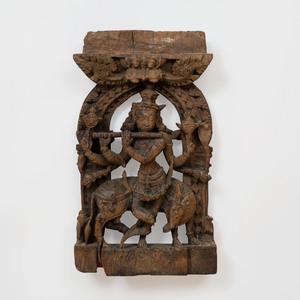 Indian Carved Wood Model of Venugopala