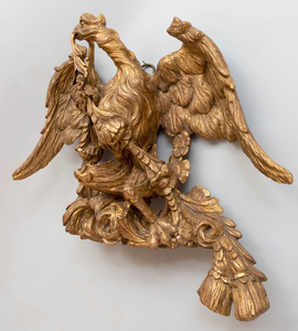 Continental Carved Giltwood Eagle with Tassels