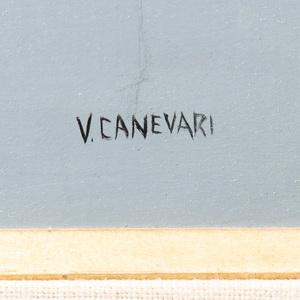 Veniero Canevari (1926-1988): Tall Tree: and Watering Flowers