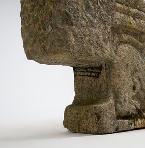 South India Carved Granite Lion-Form Capital