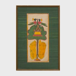 Indian School: Jina Seated Part of a Jain Manuscript