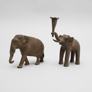 Two Indian Bronze Models of Elephants