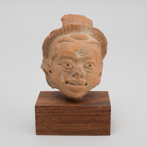 Indian Terracotta Head of a Man