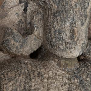 South India Granite Fragmentary Figure of Vishnu