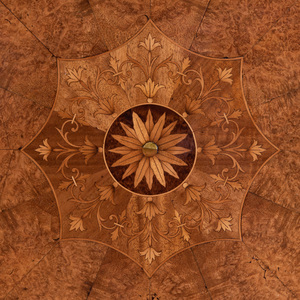 Italian Neoclassical Rosewood, Birch and Burlwood Tilt-Top Table