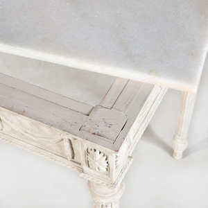 Pair of George III Style White Painted Consoles, 20th Century