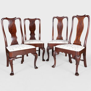 Pair of Queen Anne Mahogany Side Chairs