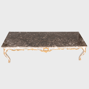 Rococo Style Painted and Parcel-Gilt Low Table