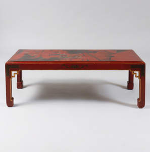 Chinese Style Red Painted Low Table
