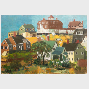 Attributed to Jo Levy (1904-1996): Maine Village