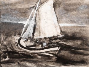 William Thon (1906-2000): The Moorings; and Cat Boat