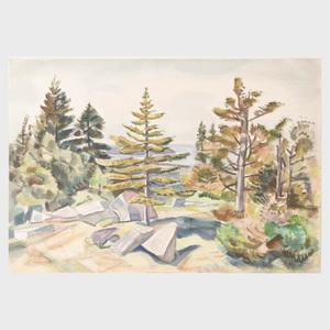 Carl Gordon Cutler (1873-1945): Granite and Evergreens