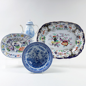 Group of English Transfer Printed Serving Wares
