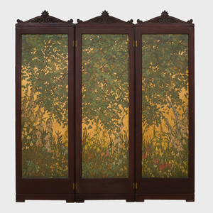 Jessie Arms Botke (1883-1971): Floral Screen