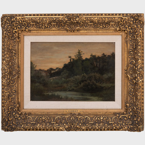 After Camille Corot (1786-1875): Landscape