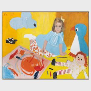 René Robert Bouché (1905-1963): Portrait of Virginia Cowles