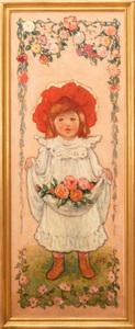 Georges D'Espagnat (1870-1950):  Les Petites Bouquetières: A Pair