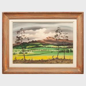 Adolf Dehn (1895-1968): Green Meadows in the Mountains